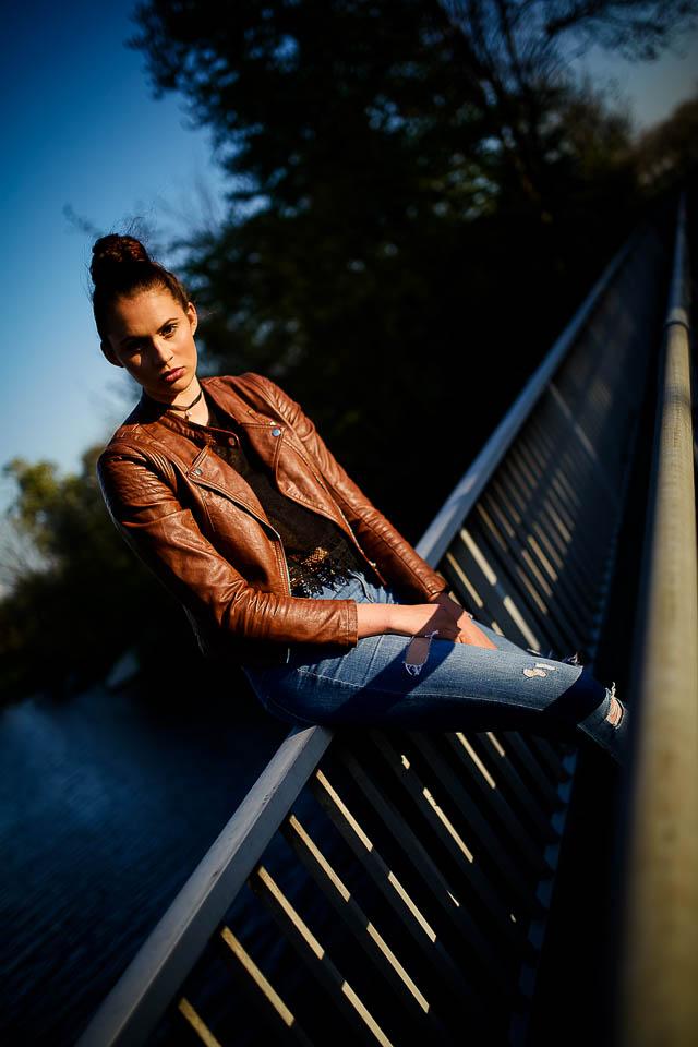 Als Fotograf mit Lizzy in Sande Porträtfotos gemacht